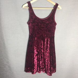 Topshop crushed velvet little dress